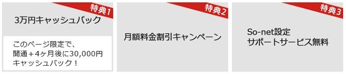 NURO光の3万円キャッシュバック
