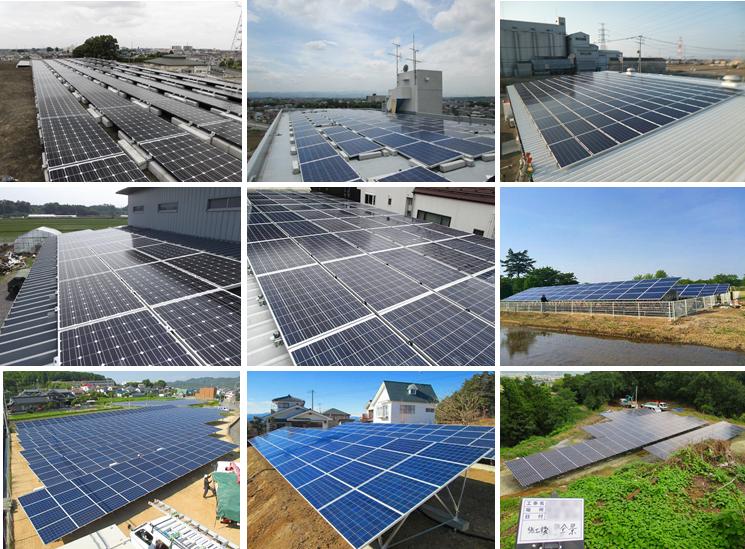 エコスタイル太陽光の施工実績